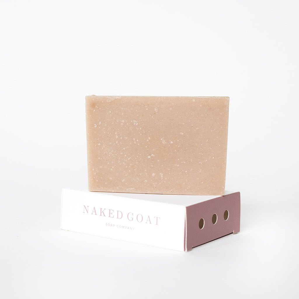 Raw Goat Milk Soap Bar in Luna by Naked Goat Soap Co