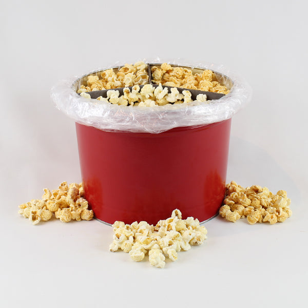 2 Gallon Popcorn Savory Tin - Crabby Corn, Rivah Mix, Salt & Vinegar