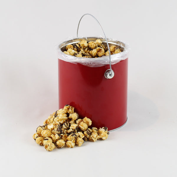 Salted Dark Chocolate Caramel Popcorn - 1 Gallon Tin