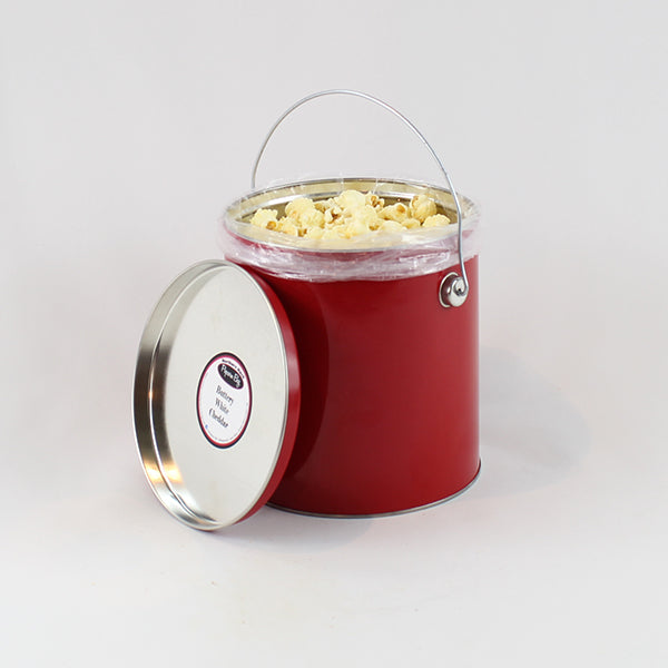 Buttery White Cheddar Popcorn - 1 Gallon Tin