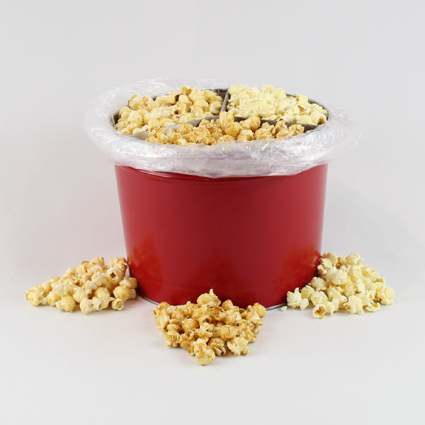 2 Gallon Popcorn Party Tin - Salted Caramel, Ginger Ale & Buttery White Cheddar