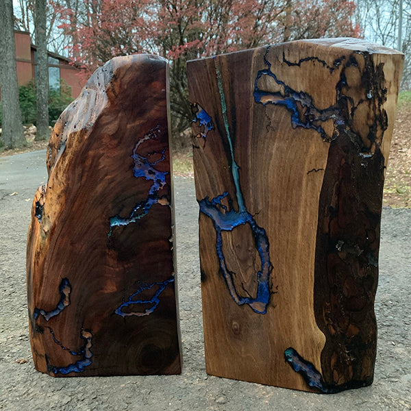 Black Walnut Slabs, Shelf Art, Set of 2