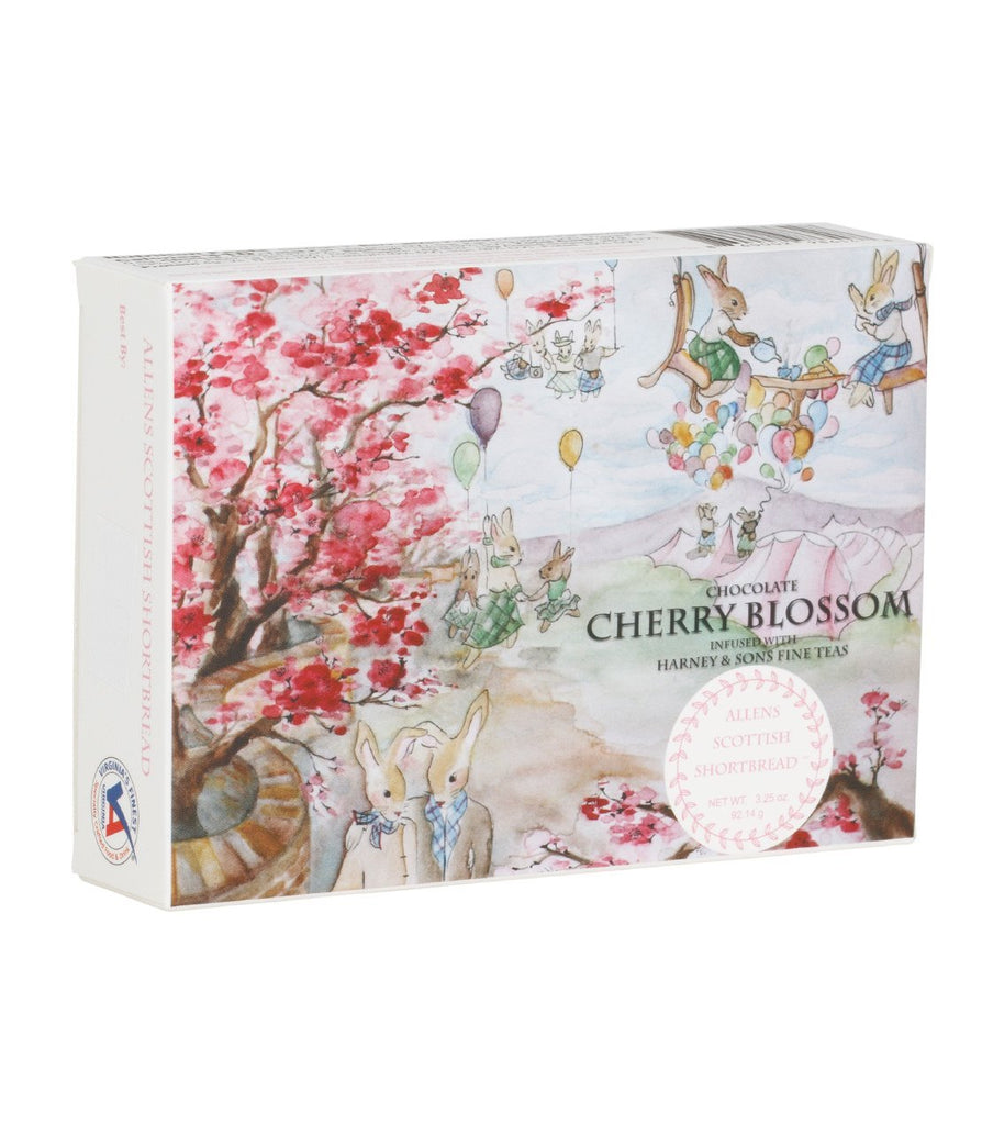 Wee Cherry Blossom Chocolate, Scottish Shortbread, 2 Boxes