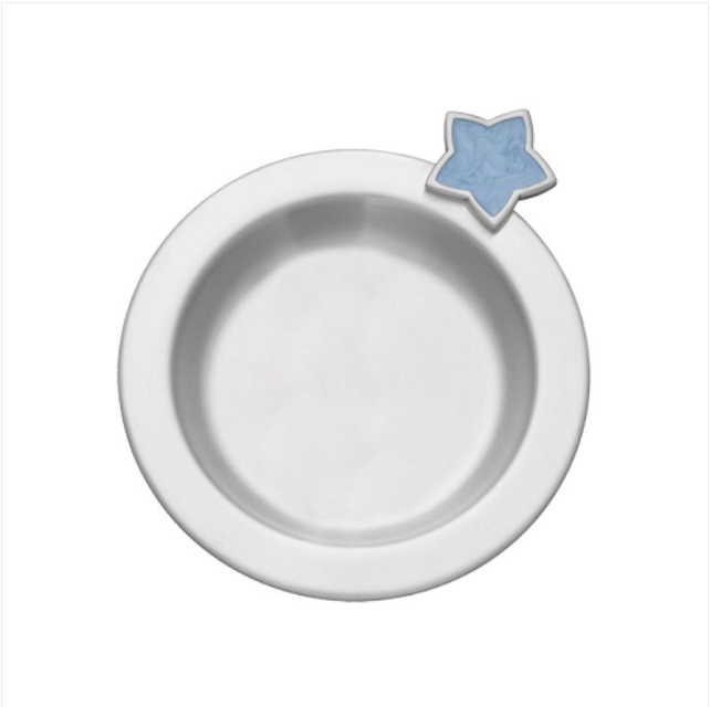 Baby Spoon & Plate Set, Pewter