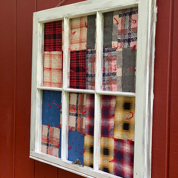 Vintage Window Framed Quilt, 28 x 24""