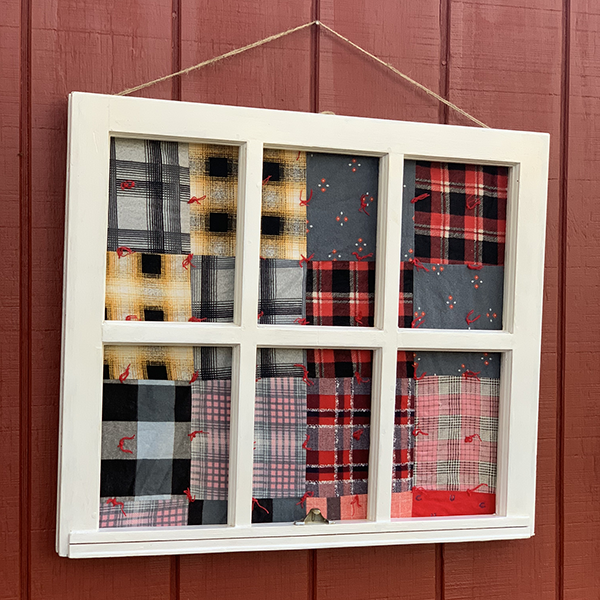 Vintage Window Framed Quilt, 28 x 27""