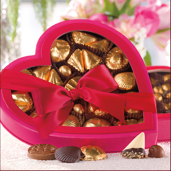 Passion Pink Heart Box, 36 Pieces