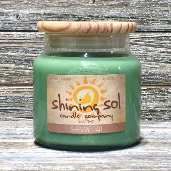 Shining Sol Shenandoah Scented Soy Candle - Large Jar