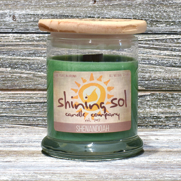 Shining Sol Shenandoah Scented Soy Candle - Medium Jar