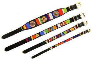 Circle of Life Beaded Dog Collar Widths by The Kenyan Collection