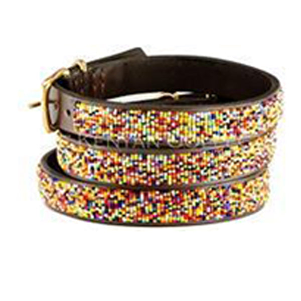 Confetti Classic Beaded, Dog Collar