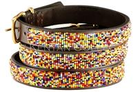 Confetti Classic Beaded Dog Collar by The Kenyan Collection