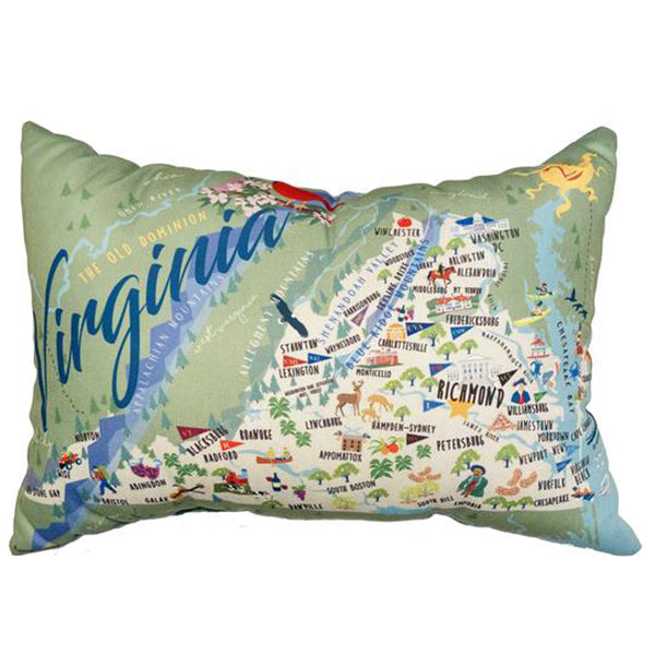 "Virginia, Lumbar Pillow, 14"" x 20"""