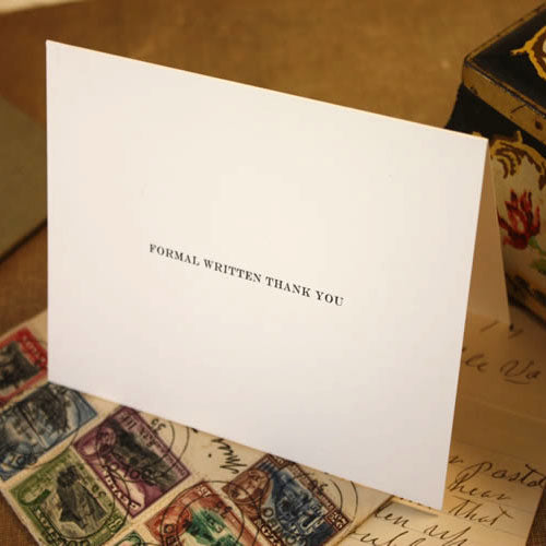 Exclusive Manners Matter Card Pack by Visual Treats - Formal Written Thank You