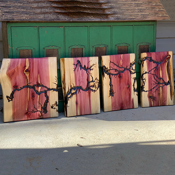 Cedar Panels Series, Wall Art, Set of 4