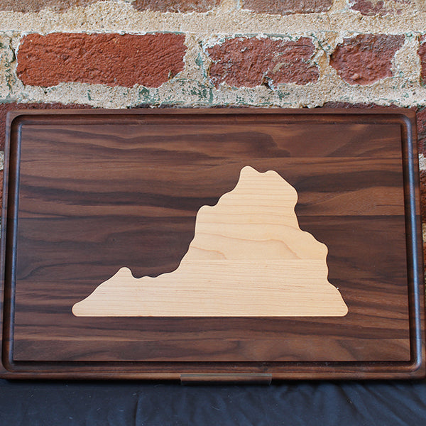 State of Virginia Cutting Board