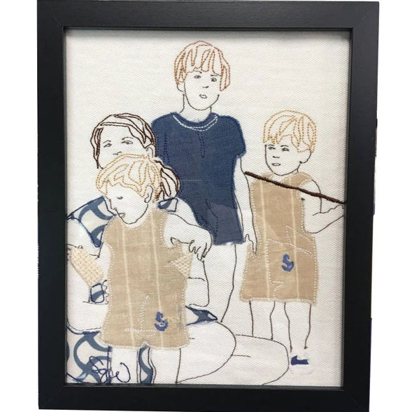 Hand-Drawn & Stitched 8x10 Mini Memories Portrait from Huger Memories