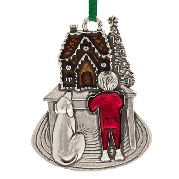 "Sweet Anticipation 2017 Ornament, Pewter, 2.25"" x 1.75"""