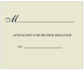 Exclusive Manners Matter Card Pack by Visual Treats - Apologize for Behavior
