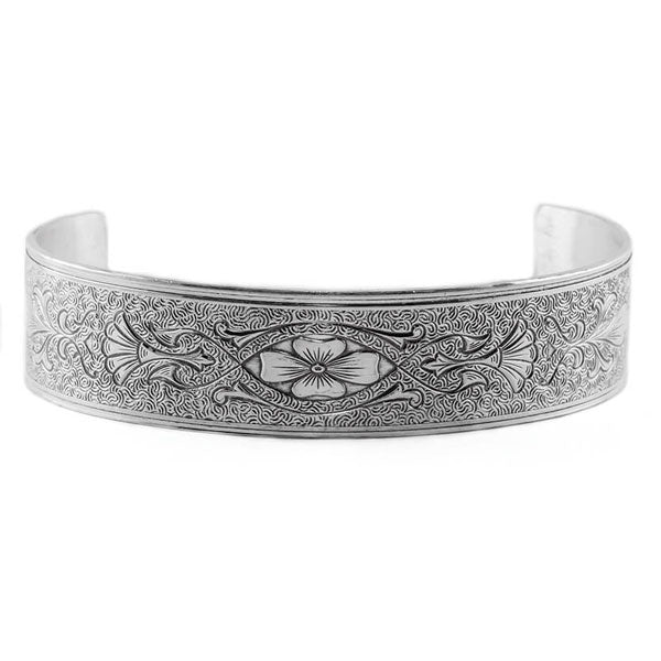 Hugo Kohl Sterling Silver Bracelet, die rolled model B023.c