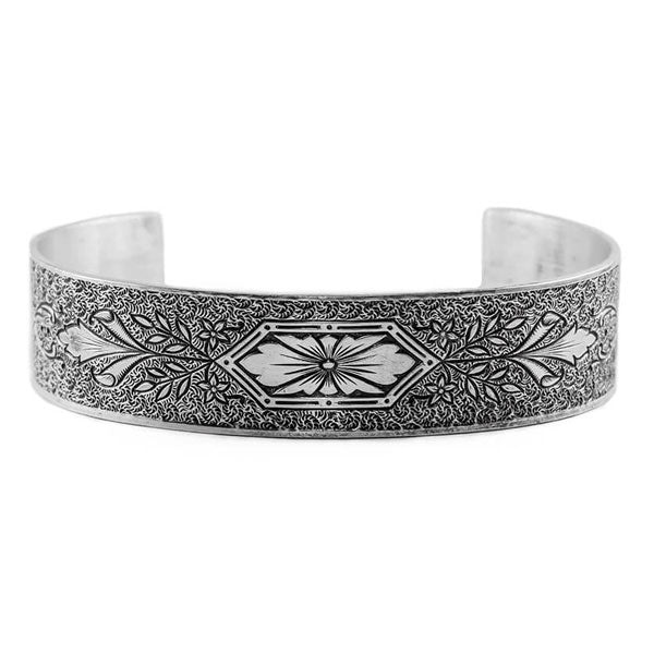 Hugo Kohl Sterling Silver Bracelet, die rolled model B031.c