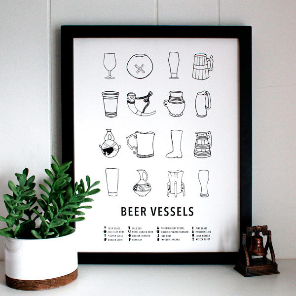 Beer Vessel Chart Print from Morris + Norris