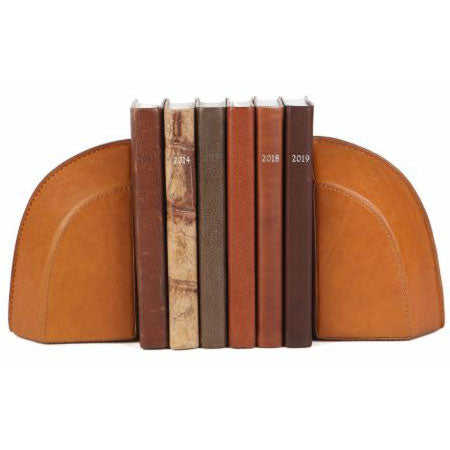 Leather Bookends from Moore & Giles