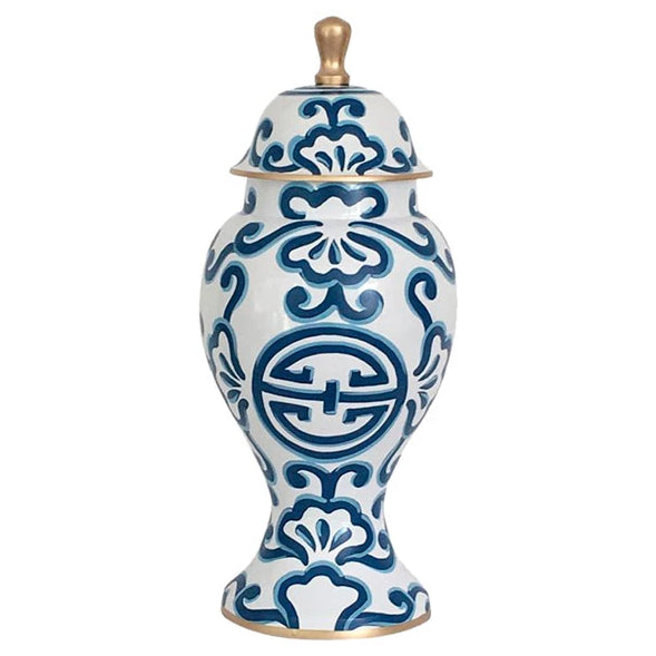 Dana Gibson Medium Ginger Jar In Blue Sultan