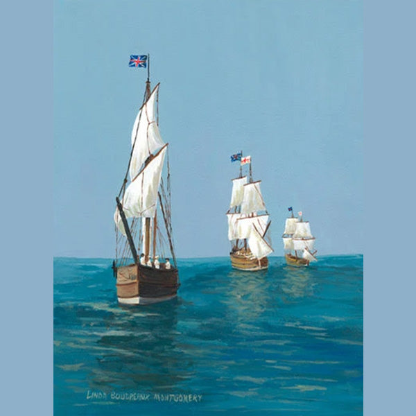 Jamestown Settlement:  Discovery, Godspeed, Susan Constant, Giclee Print, 11 x 14""