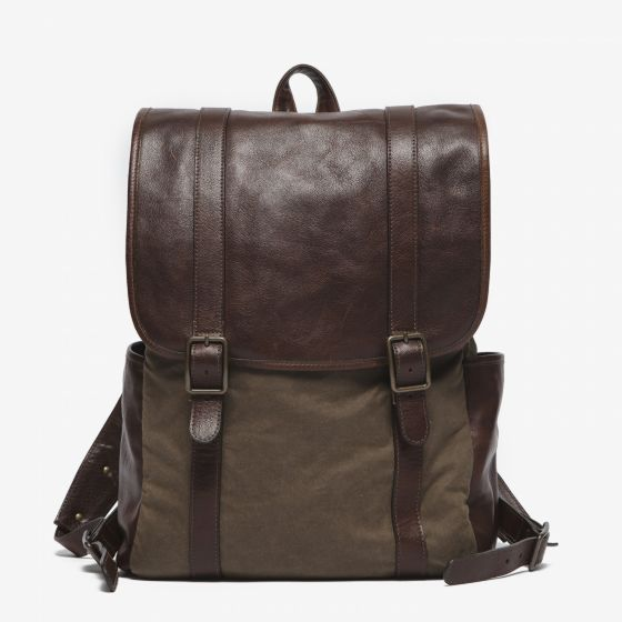 Crews Backpack in Waxwear Rangertan from Moore & Giles