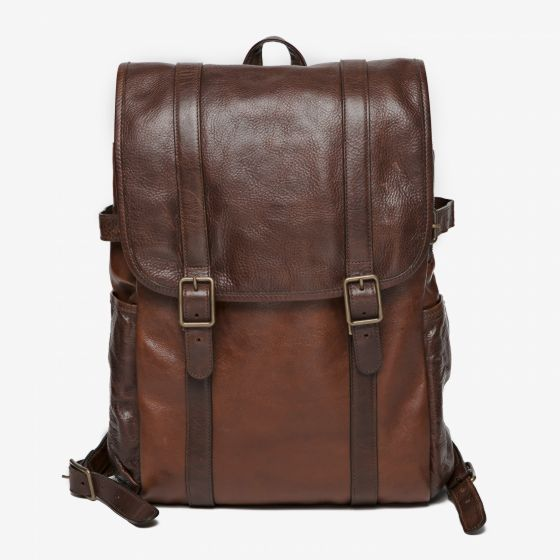 Crews Backpack in Titan Milled Honey from Moore & Giles