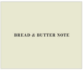 Exclusive Manners Matter Card Pack by Visual Treats - Bread and Butter Note
