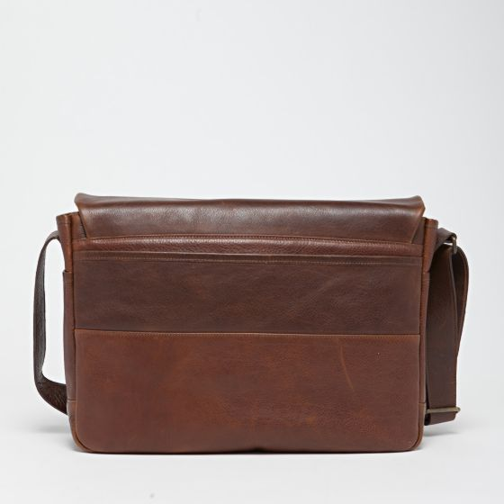 Sackett Messenger Bag in Titan Milled Honey from Moore & Giles