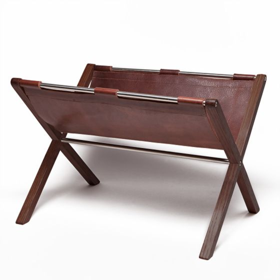 Walnut Magazine Holder from Moore & Giles