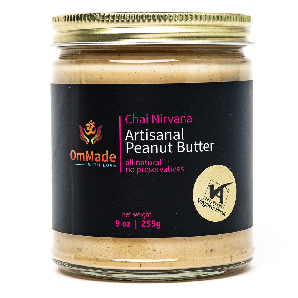 OmMade Chai Nirvana Peanut Butter gluten-free vegan local