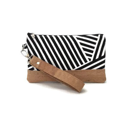 Virginia Girl Design Exclusive Crosshatch & Cork Clutch