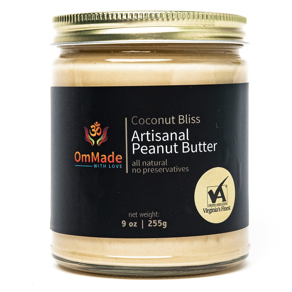 OmMade Coconut Bliss Peanut Butter artisanal gluten-free vegan local