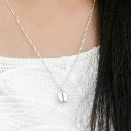 Sterling Silver Coffee Bean Necklace from Thicket