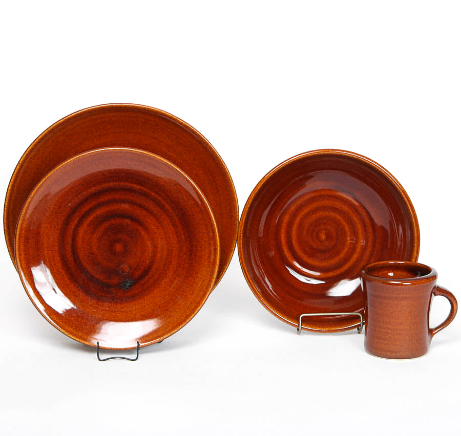 Copper Clay Craftline Dinner Set for One