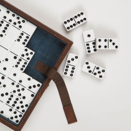 Baldwin Oak Dominoes from Moore & Giles
