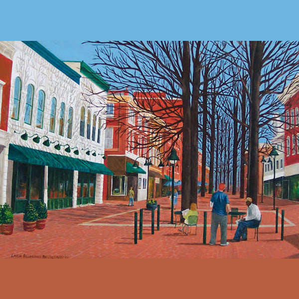 Downtown Mall in Charlottesville, Giclee Print, 11 x 14""