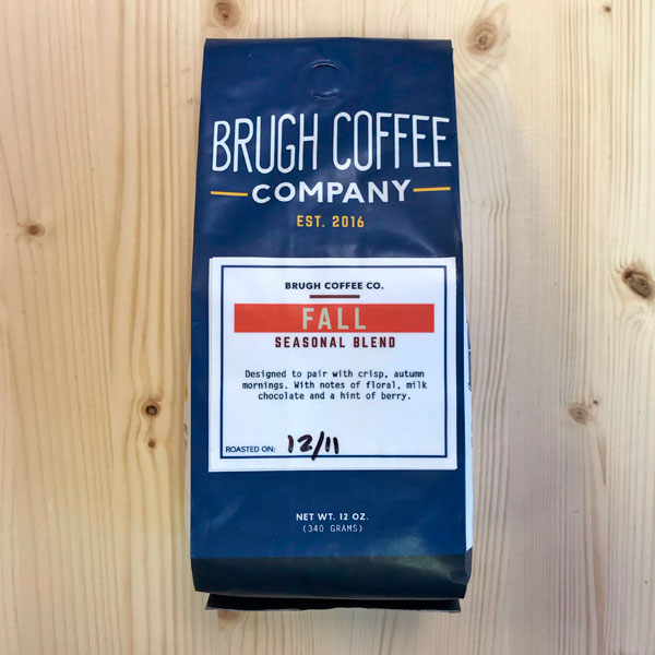 Fresh Roasted Fall Seasonal Blend from Brugh Coffee Co. - 12oz bag