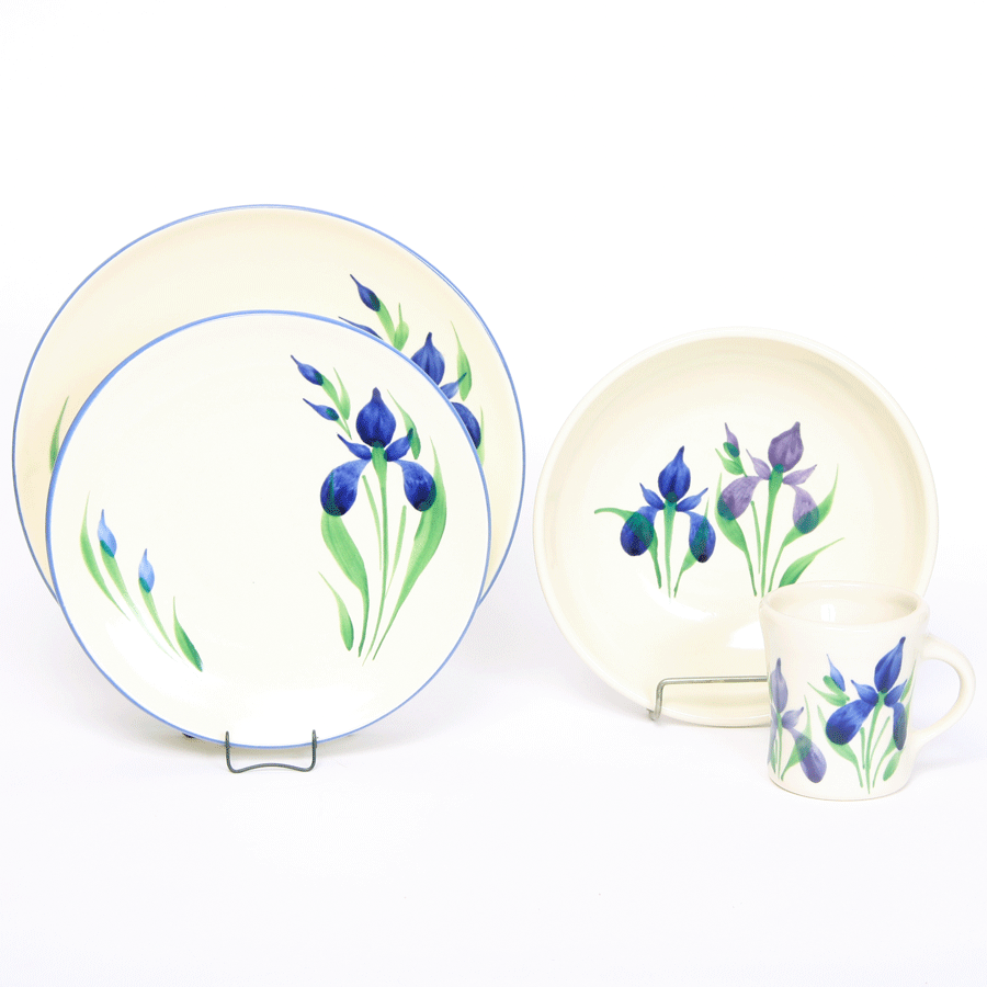 Field of Iris Craftline, Dinner Set for One