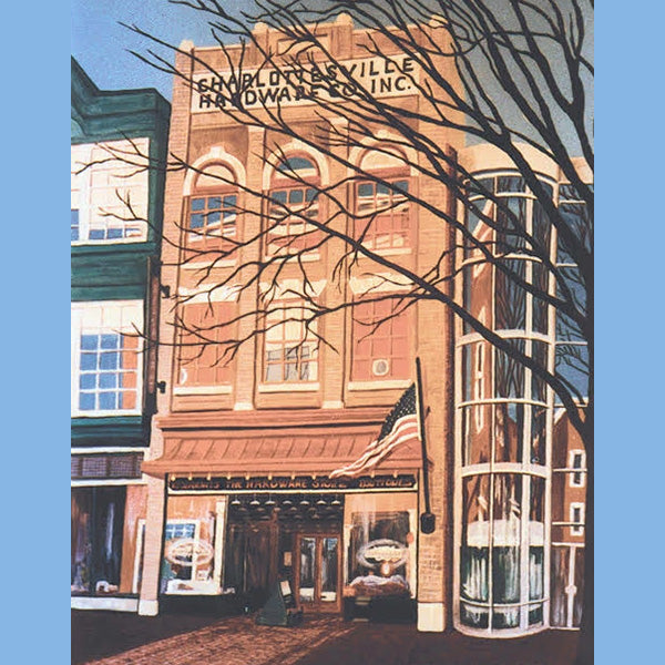Hardware Company in Charlottesville, Giclee Print, 11 x 14""
