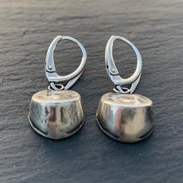 Hoofprints Drop Earrings, Sterling Silver