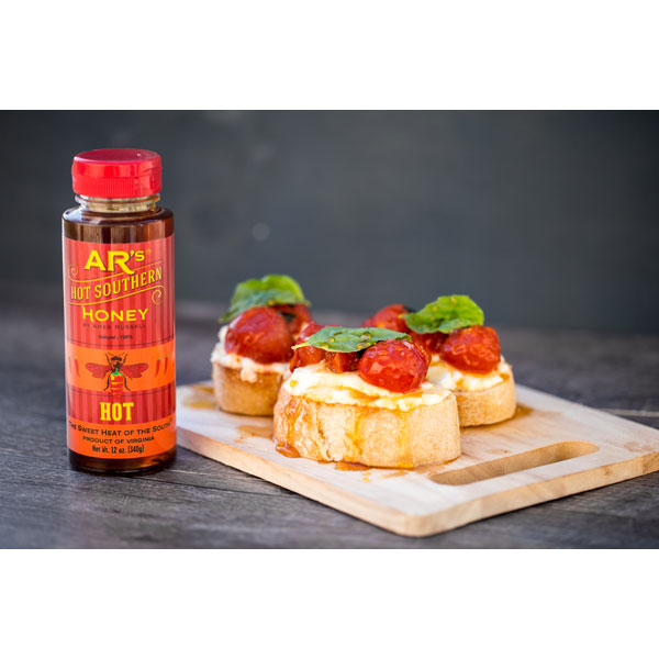AR's Hot Southern Honey (Hot-Hot) on food