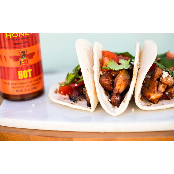 AR's Hot Southern Honey (Hot-Hot) on tacos