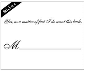 Exclusive Manners Matter Card Pack by Visual Treats - I want this back sticker