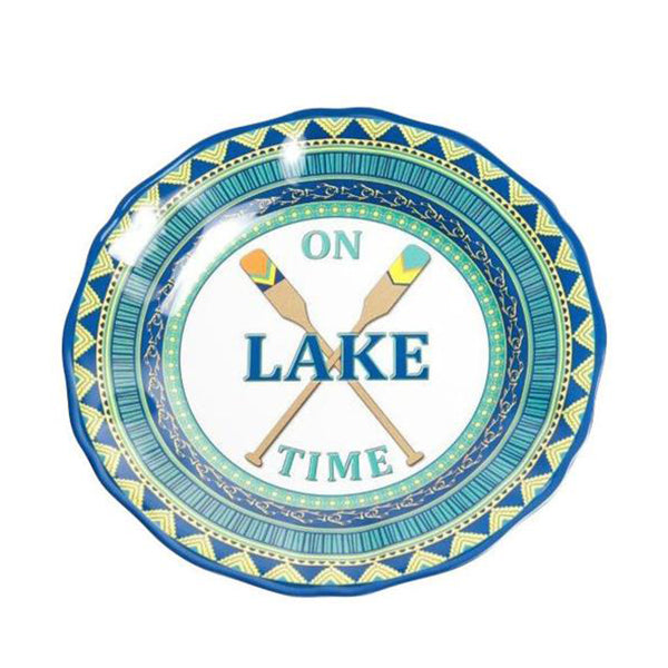 On Lake Time Series, Salad Plate, Melamine, 9""