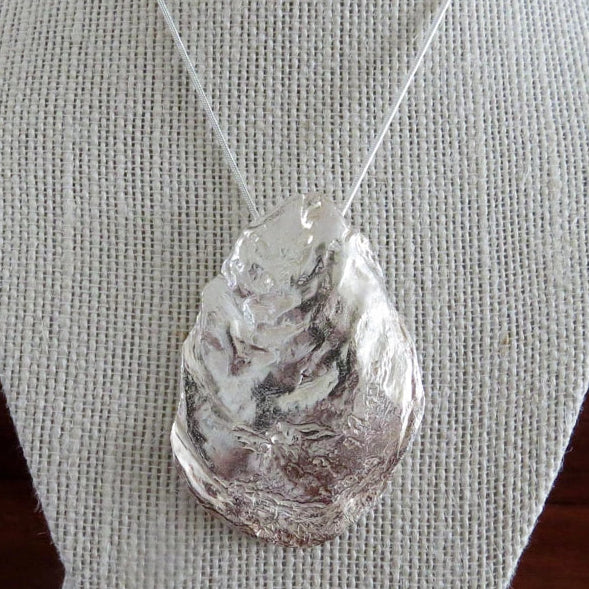 Silver Oyster Shell Pendant (large) by Designs from Nature